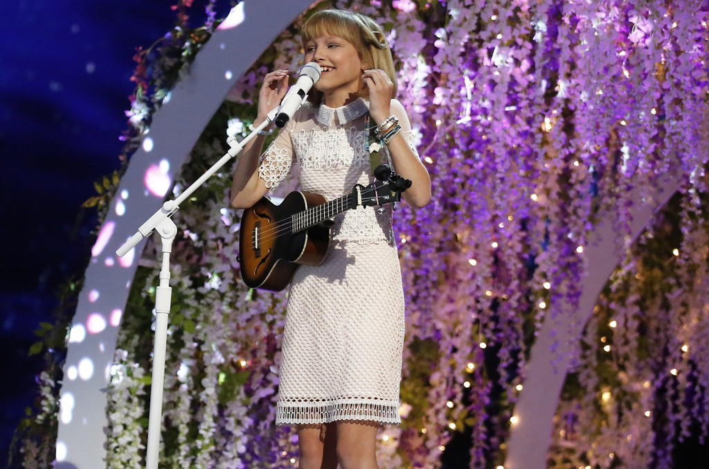 Grace VanderWaal performs on America's Got Talent.