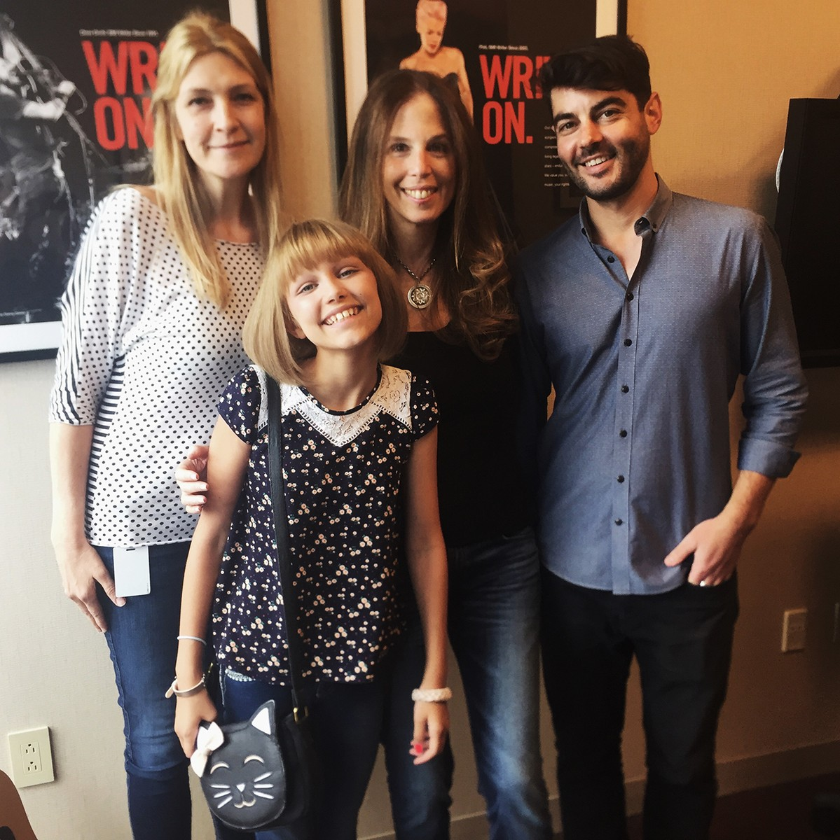 Grace VanderWaal pictured at BMI's New York City headquarters with Samantha Cox, Brooke Morrow and Tim Pattison of BMI.