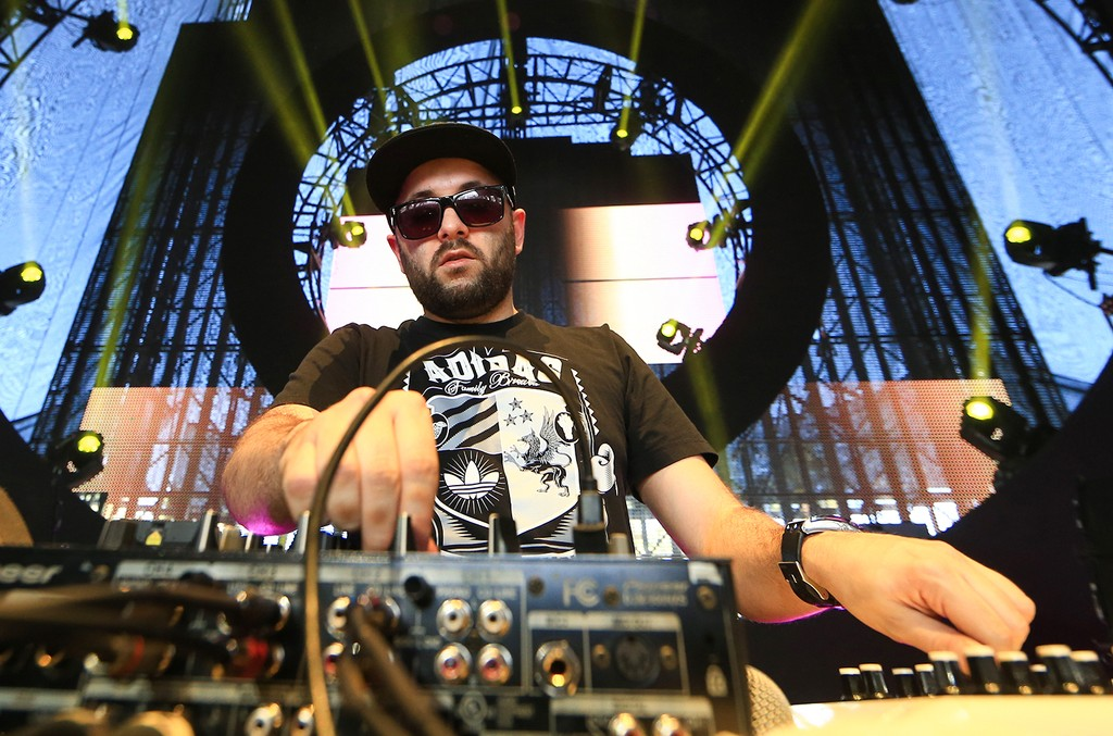 Gramatik performs during the 2015 Coachella Valley Music & Arts Festival at the Empire Polo Club on April 11, 2015 in Indio, Calif.