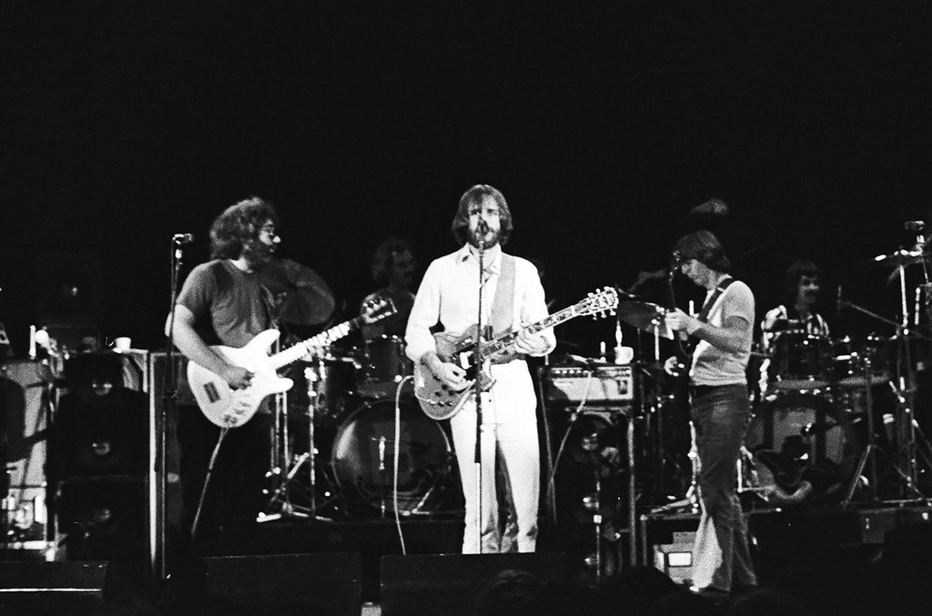 The Grateful Dead perform at Cornell University's Barton Hall on May 8, 1977.
