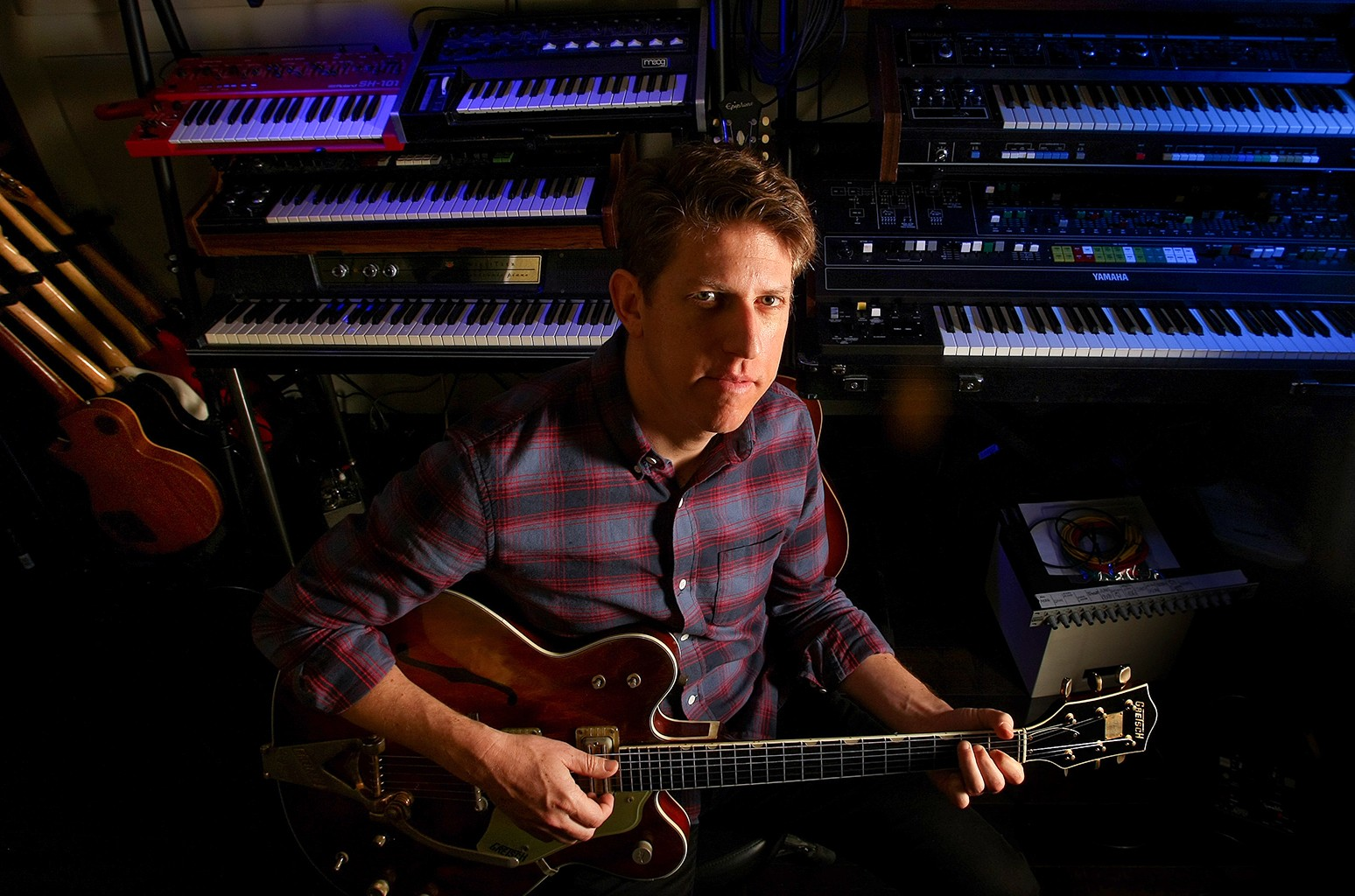 Greg Kurstin photographed at his studio in Los Angeles.