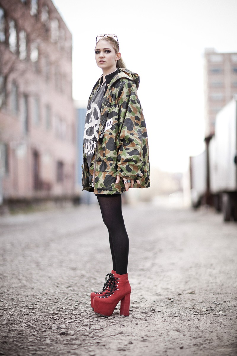 Grimes photographed in Montreal on May 4, 2012.