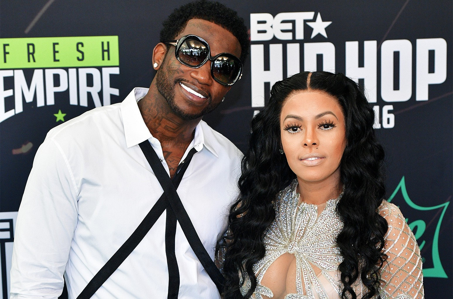Gucci Mane and Keyshia Ka'oir attend the BET Hip Hop Awards 2016 Green Carpet at Cobb Energy Performing Arts Center on Sept. 17, 2016 in Atlanta.
