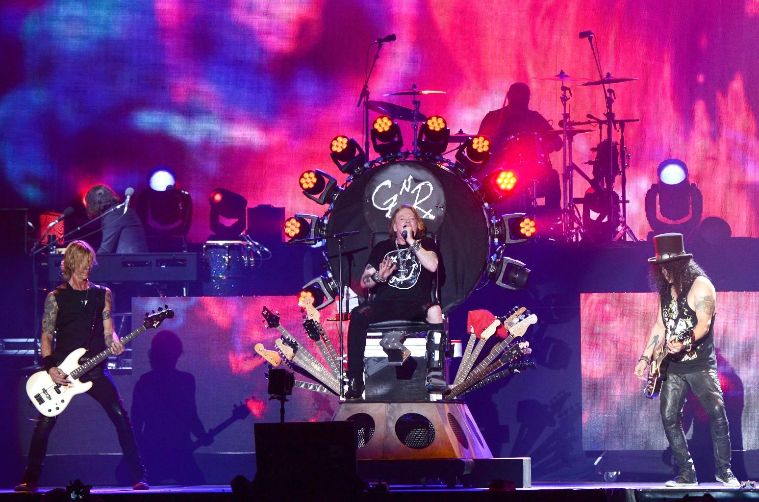 Duff McKagan, Axl Rose and Slash of Guns N' Roses