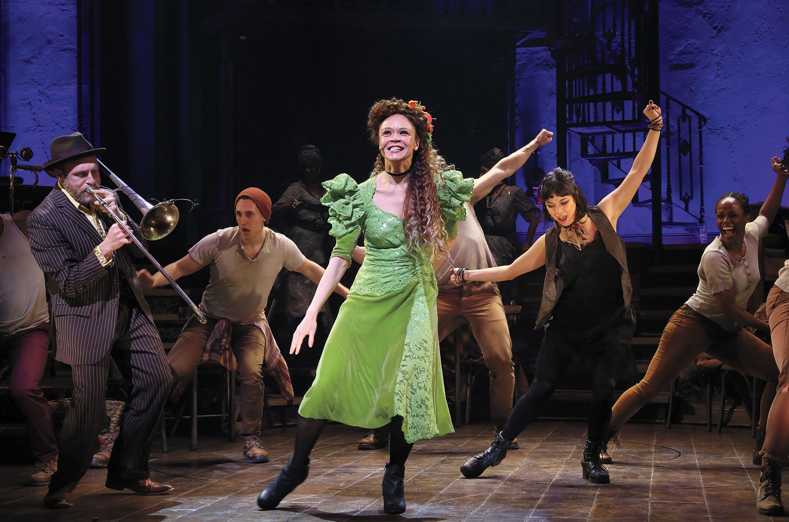 Gray as Persephone in Hadestown.
