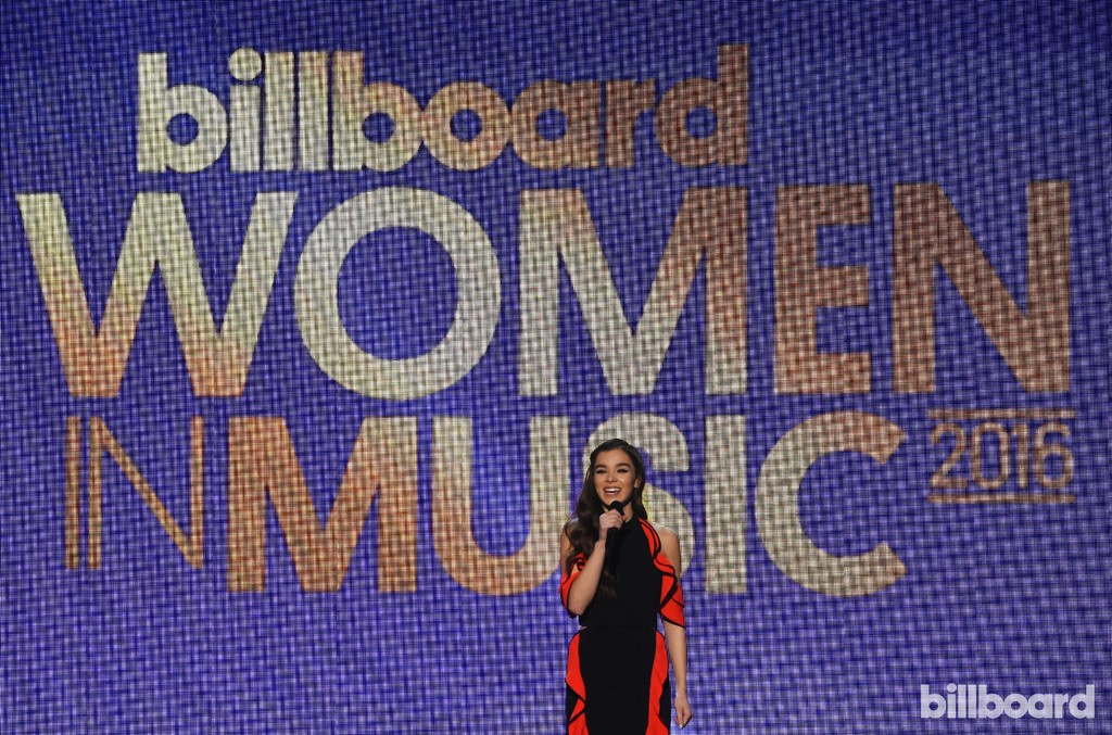 Hailee Steinfeld performs at the Billboard Women in Music 2016 event on Dec. 9, 2016 in New York City.