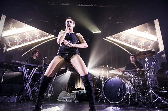 Halsey performs at the Manchester Academy in Britain on Feb. 22, 2016.