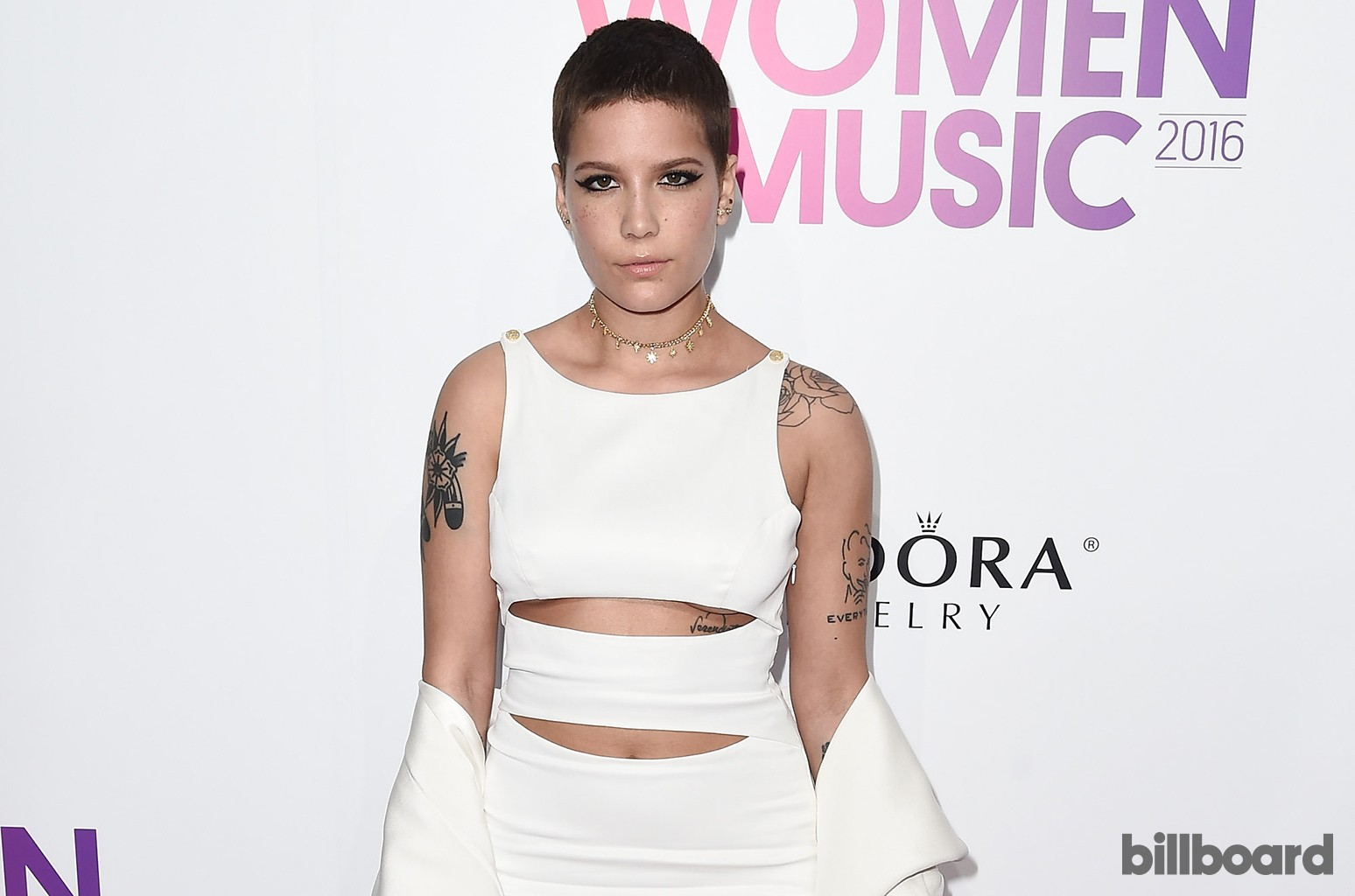 Halsey attends the Billboard Women in Music 2016 event on Dec. 9, 2016 in New York City.