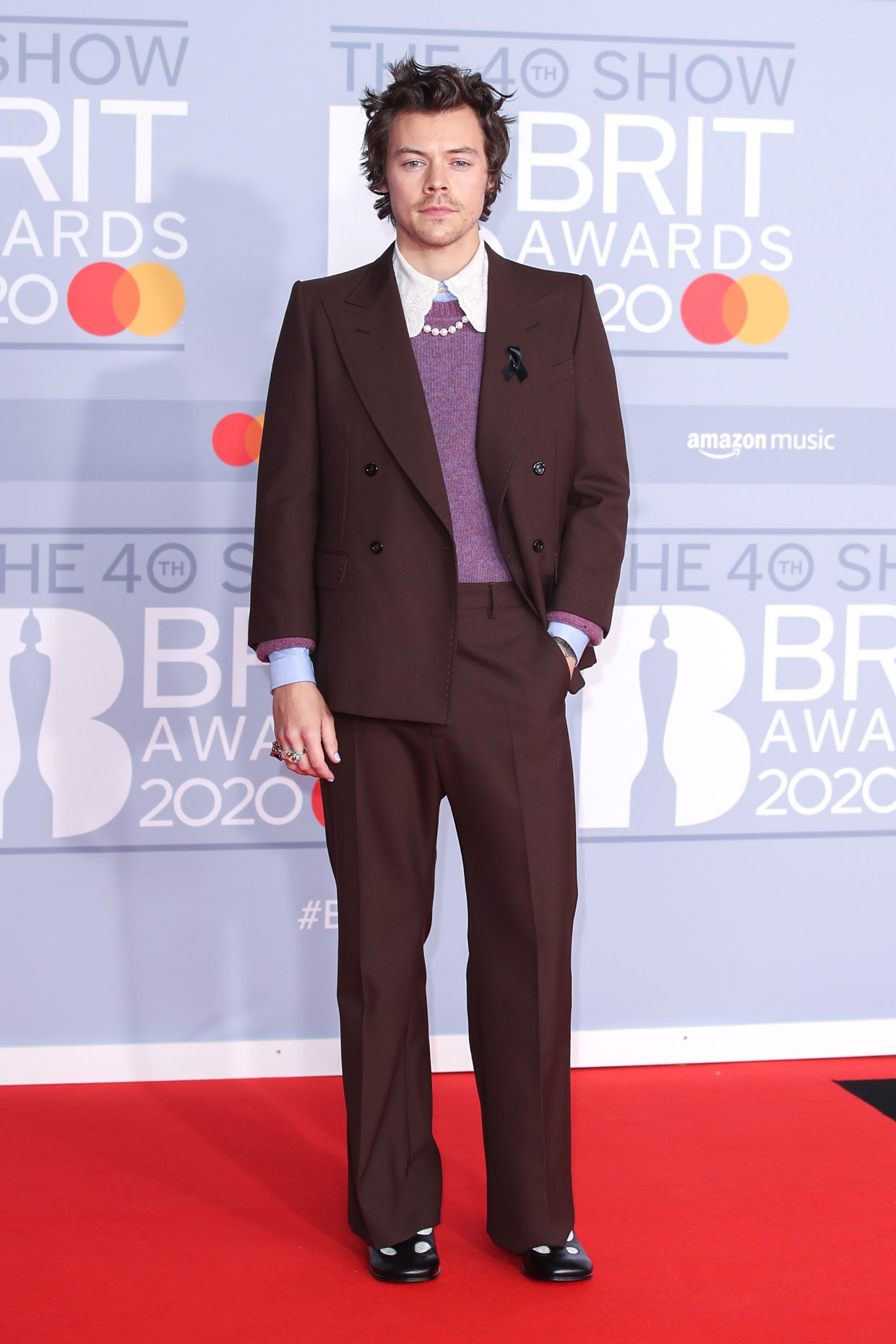 Harry Styles Clue Inspired 2020 Brit Awards Outfits Vote For Your Favorite Billboard Billboard