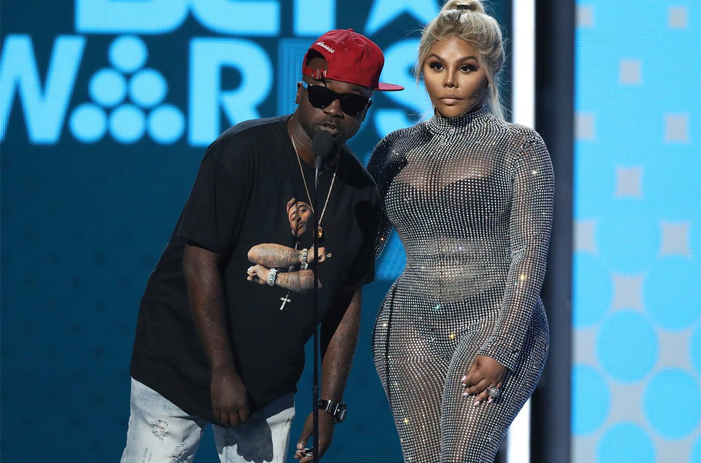 Havoc and Lil Kim present the award for best male hip hop artist at the BET Awards at the Microsoft Theater on June 25, 2017 in Los Angeles.