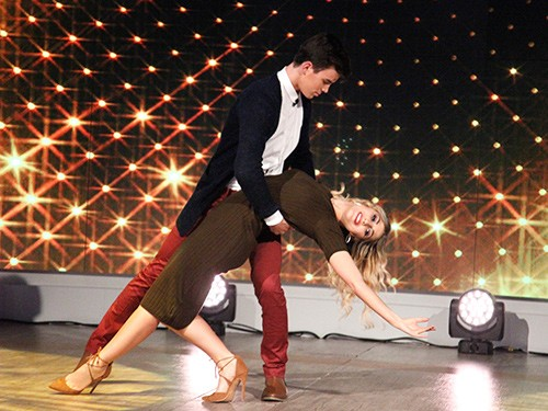 """Hayes Grier, Emma Slater, """"The View."""""""