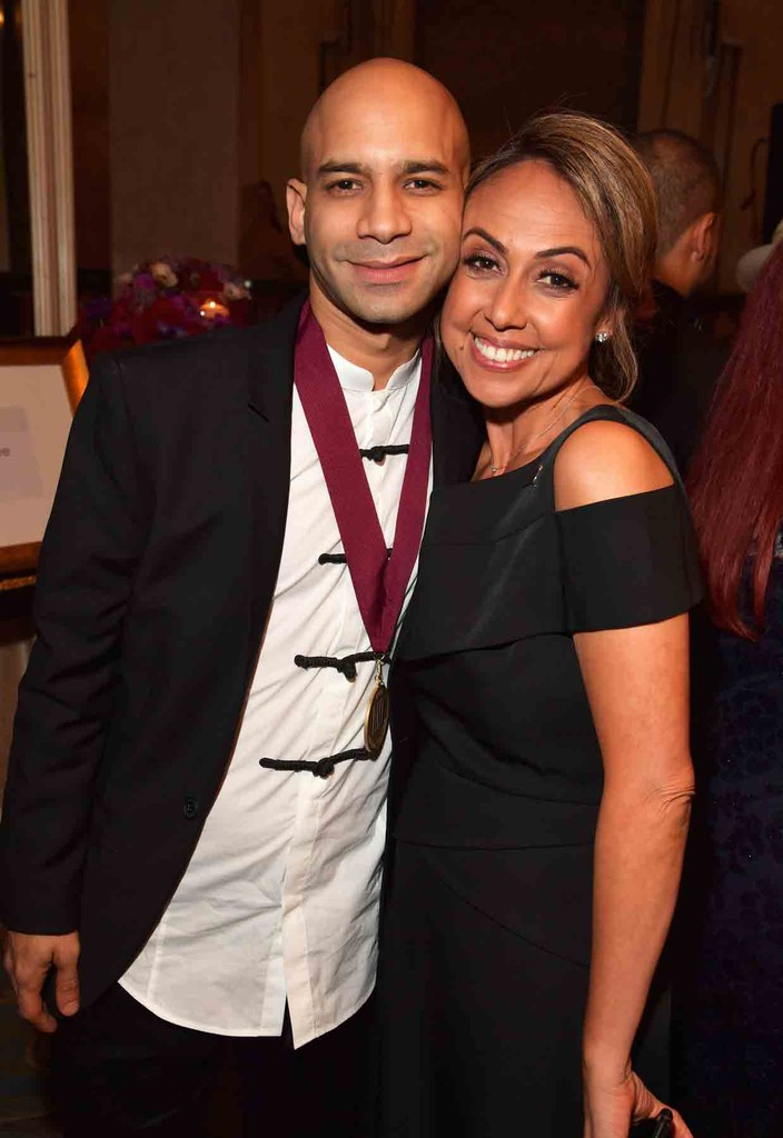 Haze and BMI Vice President, Writer/Publisher Relations, Latin Music, Los Angeles, Delia Orjuela attend the 24th Annual BMI Latin Awards at the Beverly Wilshire Four Seasons Hotel on March 21, 2017 in Beverly Hills, Calif.