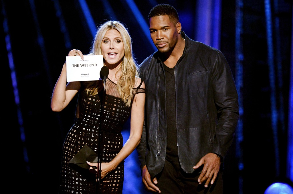 Heidi Klum and Michael Strahan