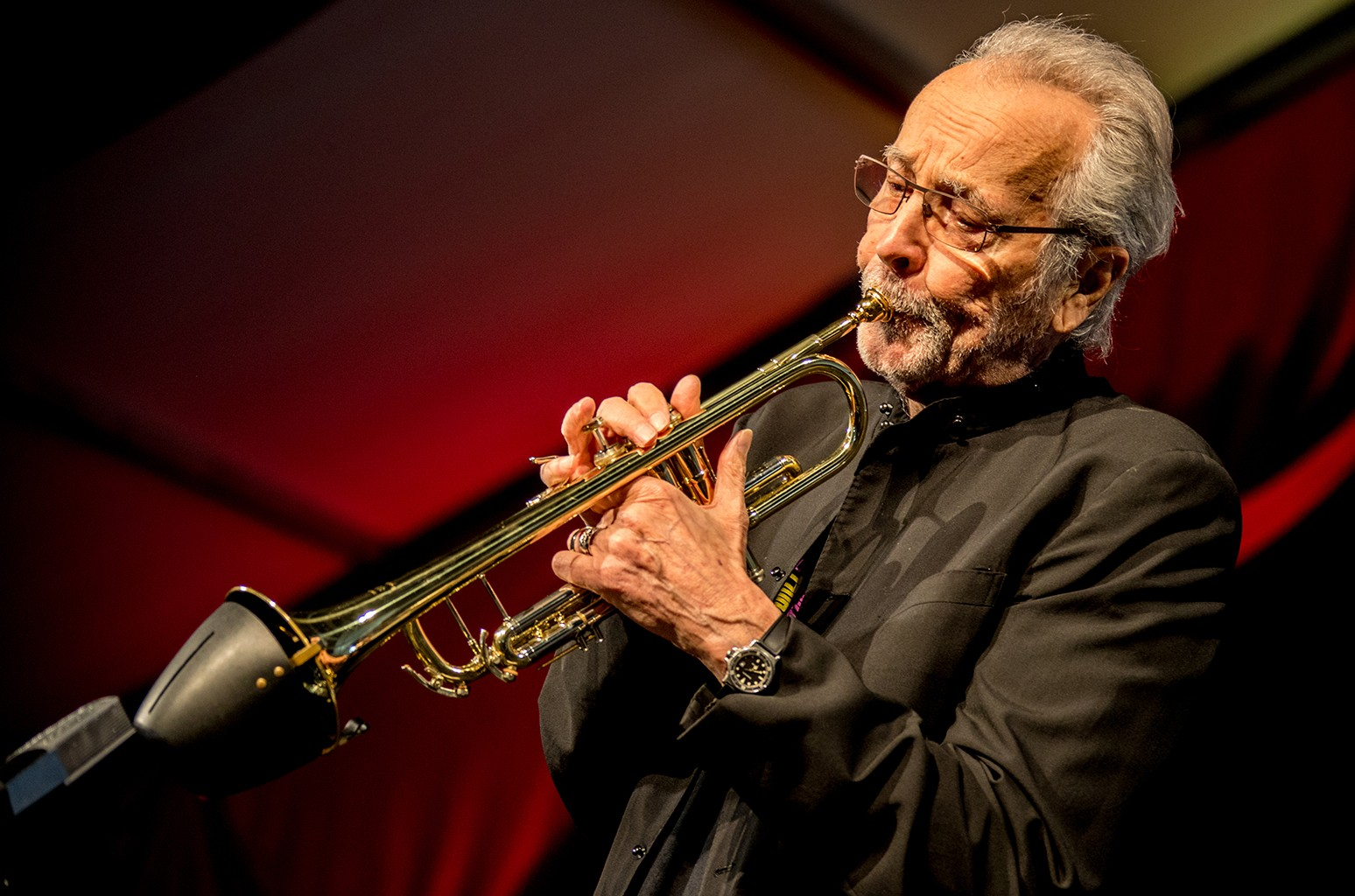Herb Alpert performs during the New Orleans Jazz & Heritage Festival 2017 at Fair Grounds Race Course on May 4, 2017 in New Orleans.