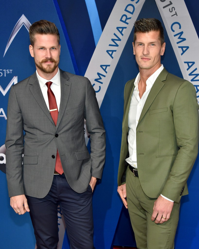 Curtis Rempel and Brad Rempel of musical duo High Valley attend the 51st annual CMA Awards at the Bridgestone Arena on Nov. 8, 2017 in Nashville, Tenn.
