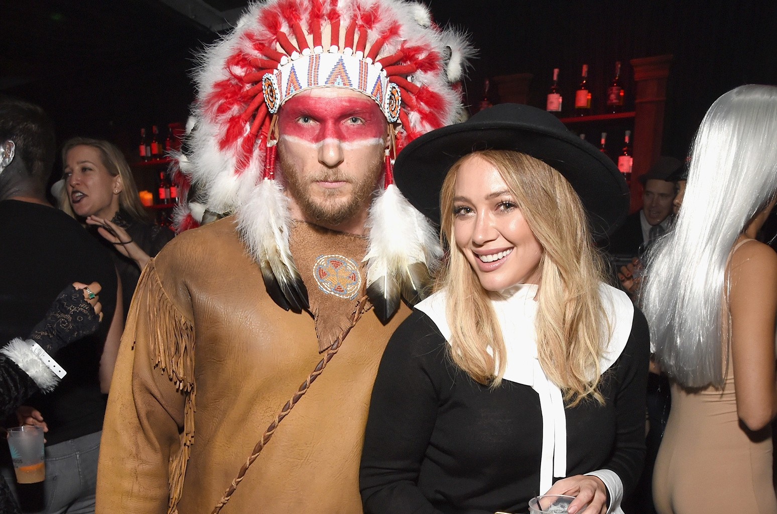 Hilary Duff and Jason Walsh attend the Casamigos Halloween Party at a private residence on Oct. 28, 2016 in Beverly Hills, Calif.