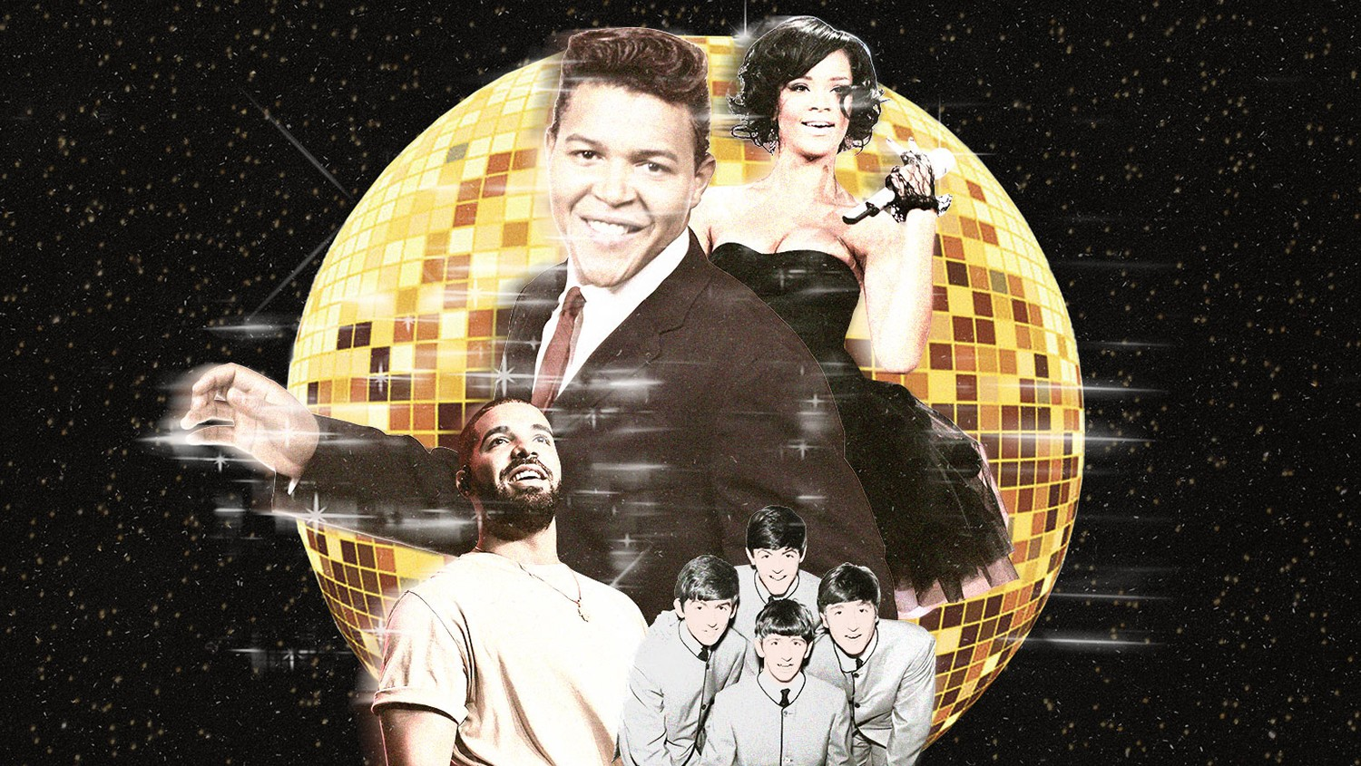 Chubby Checker, Rihanna, Drake & The Beatles