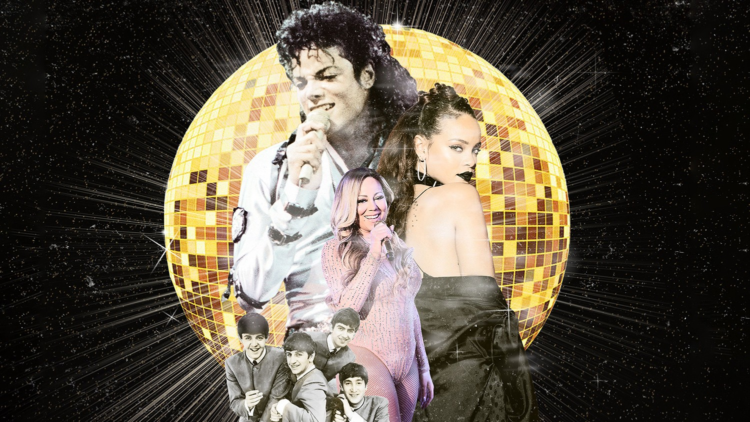 Michael Jackson, Rihanna, Mariah Carey & The Beatles