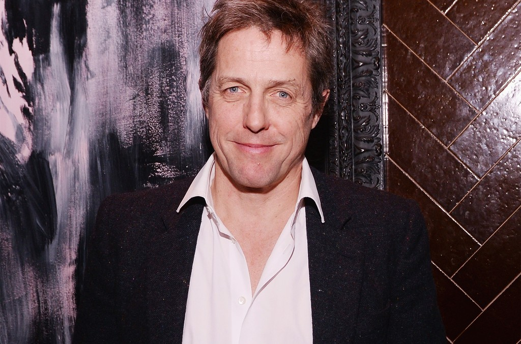 """Hugh Grant  attends the after party for a special screening of """"The Rewrite"""" hosted by The Cinema Society and Brooks Brothers at The Jimmy at the James Hotel on Feb. 10, 2015 in New York City."""