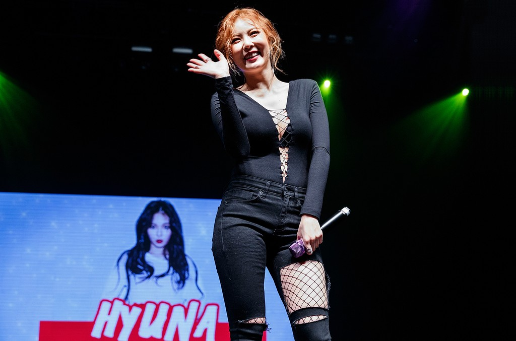 HyunA performs on Feb. 22, 2017 in Vancouver, Canada.