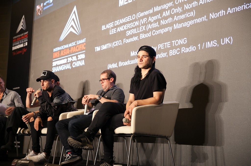 Skrillex at the 2016 IMS Asia-Pacific conference.