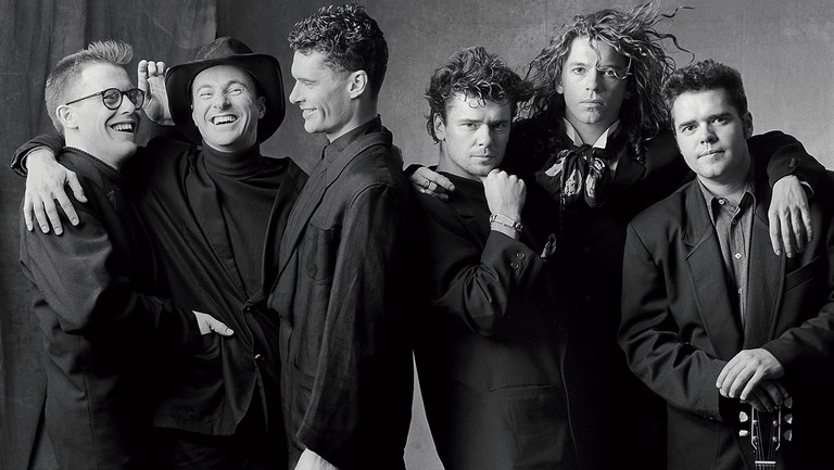 <p>INXS in Chicago in 1988. From left: Kirk Pengilly, Garry Beers, Jon Farriss, Tim Farriss, Michael Hutchence and Andrew Farriss.</p>