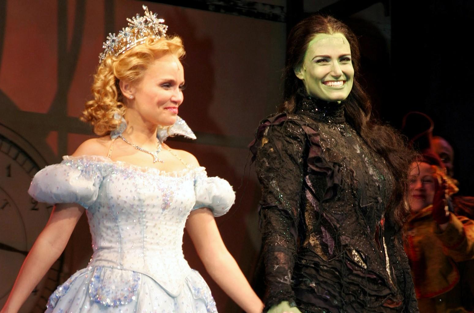 """Kristin Chenoweth and Idina Menzel in """"Wicked"""""""