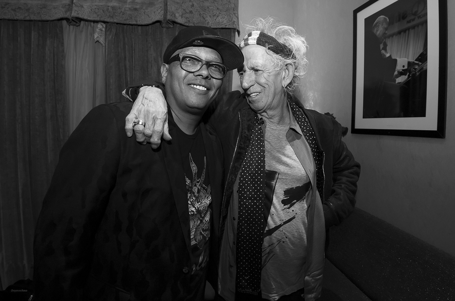 Ivan Neville and Keith Richards