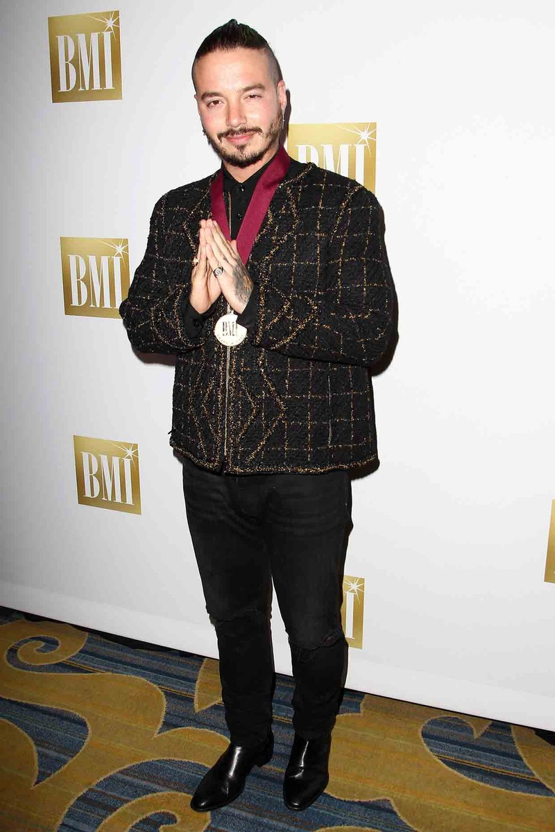 J Balvin attends the 24th Annual BMI Latin Awards at the Beverly Wilshire Four Seasons Hotel on March 21, 2017 in Beverly Hills, Calif.