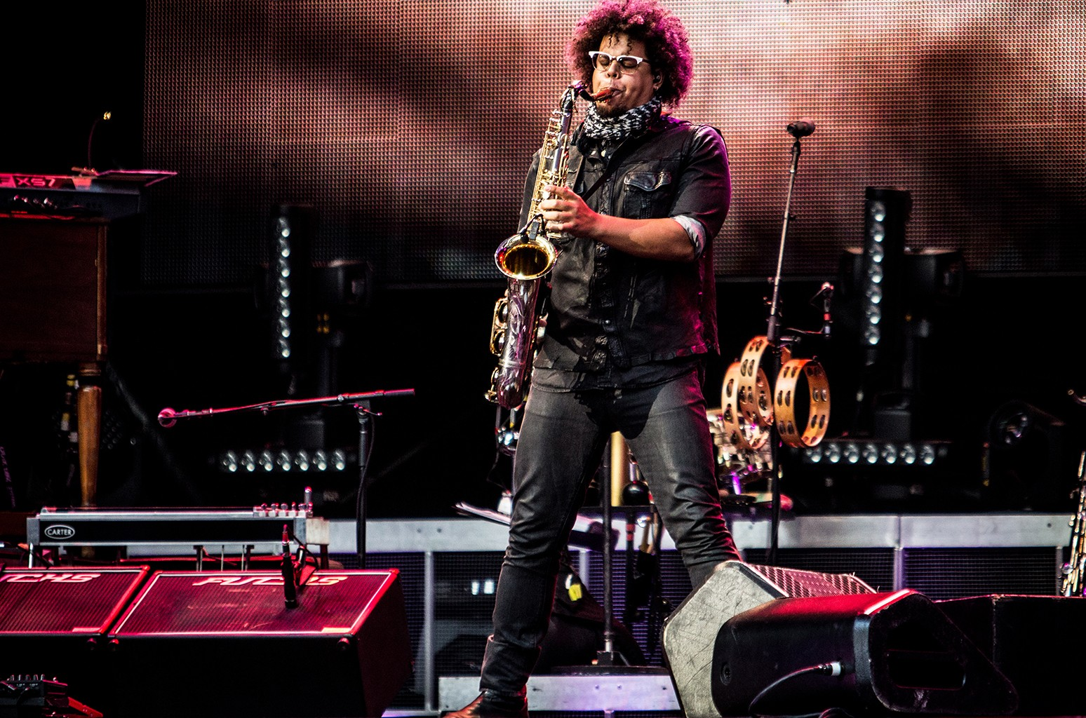 Jake Clemons performs in 2016