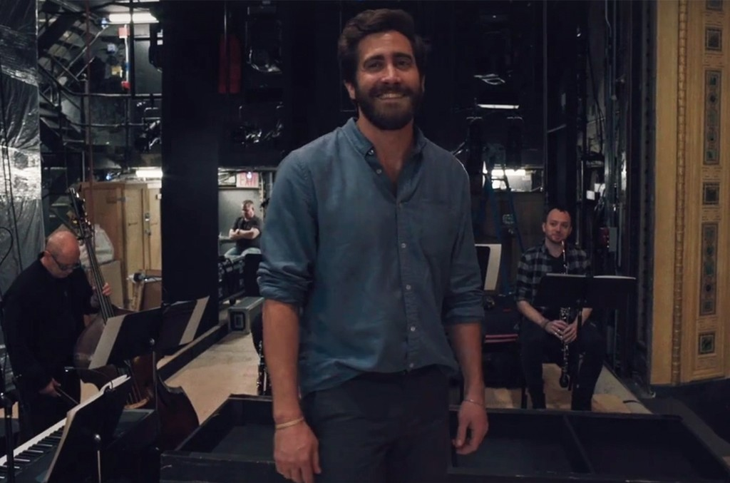 """Jake Gyllenhaal in a rehearsal video for """"Sunday in the Park with George."""""""