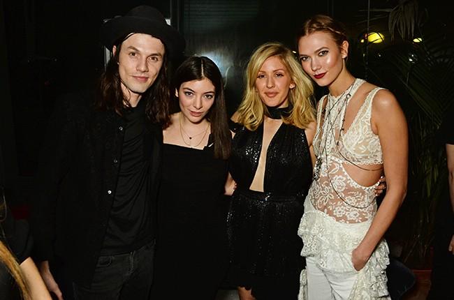 James Bay, Lorde, Ellie Goulding and Karlie Kloss