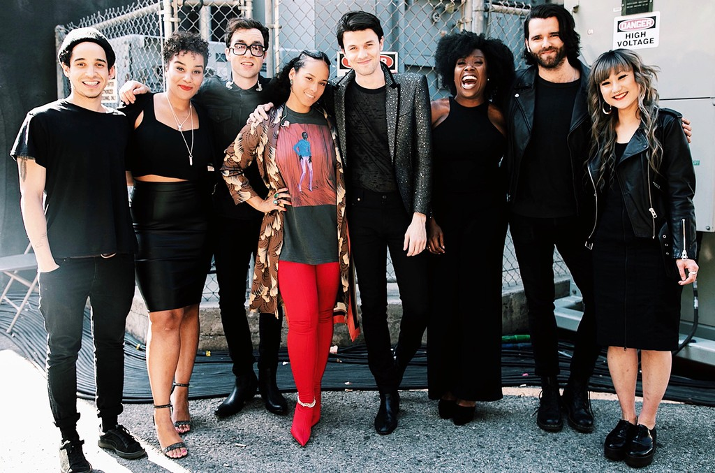 Alicia Keys and James Bay after they performed on The Voice Finale on May 22, 2018.