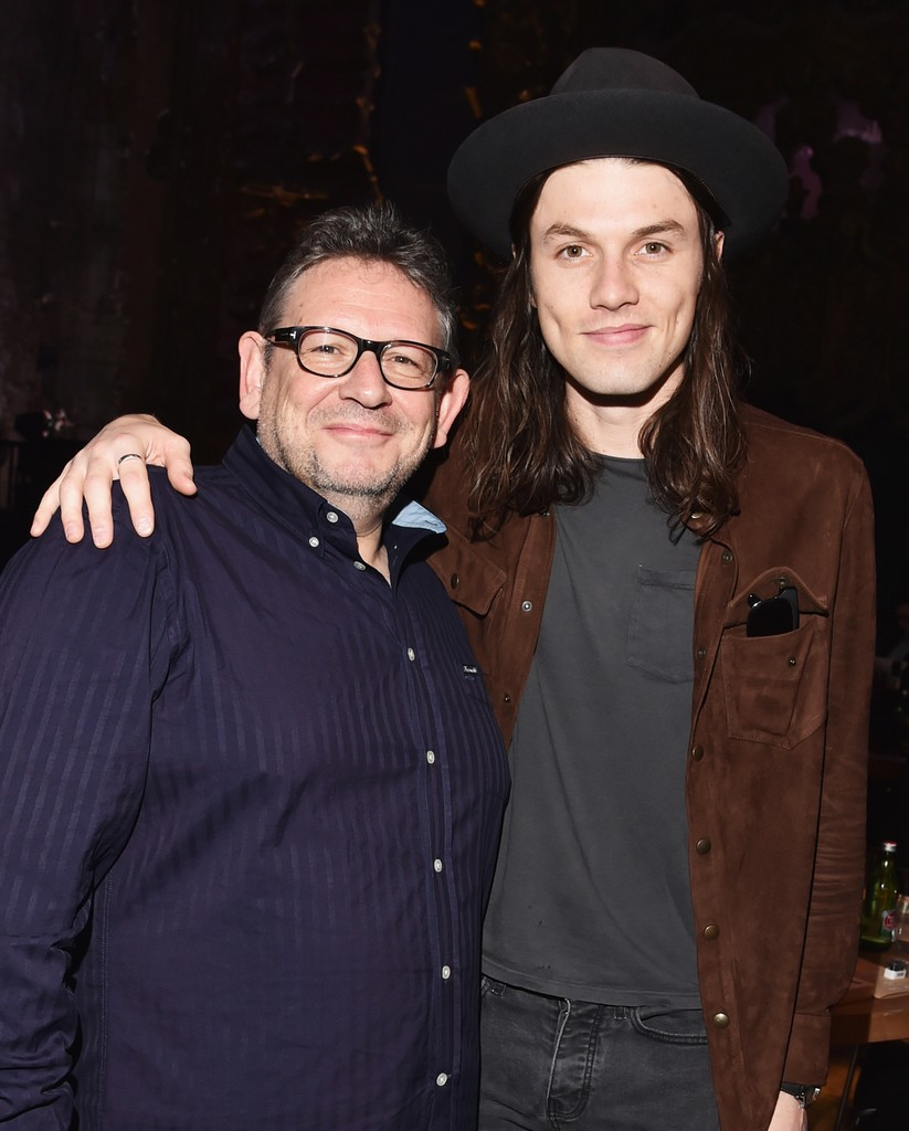 Lucian Grainge and James Bay