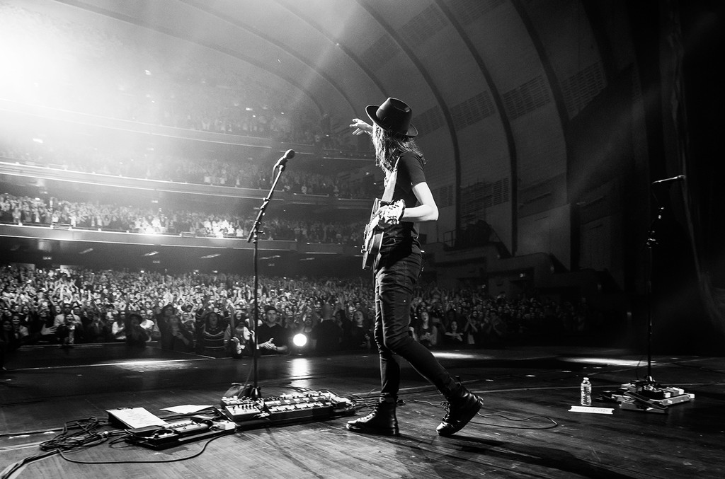James Bay Performs at sold out Radio City show on Sept. 30, 2016 in New York.