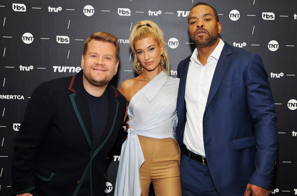 James Corden, Hailey Baldwin and Method Man 'drop the mic'