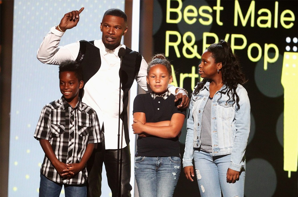 Jamie Foxx speaks onstage at 2017 BET Awards at Microsoft Theater on June 25, 2017 in Los Angeles.