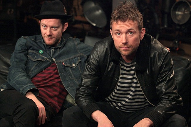 Jamie Hewlett and Damon Albarn of Gorillaz