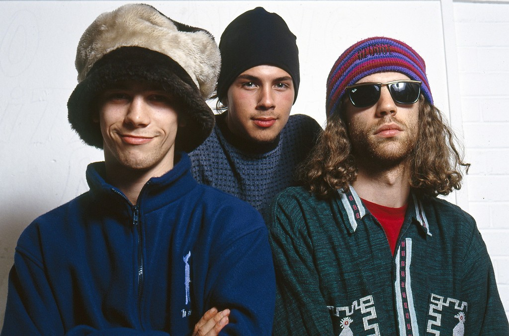 Jay Kay, Stuart Zender and Toby Smith of Jamiroquai.