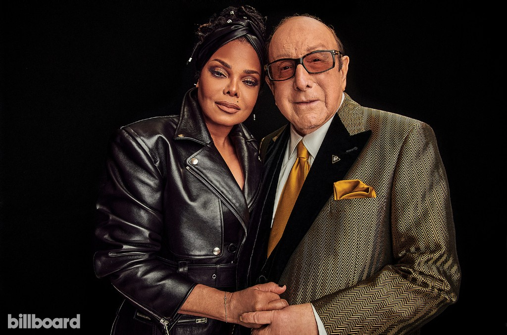 Janet Jackson and Clive Davis
