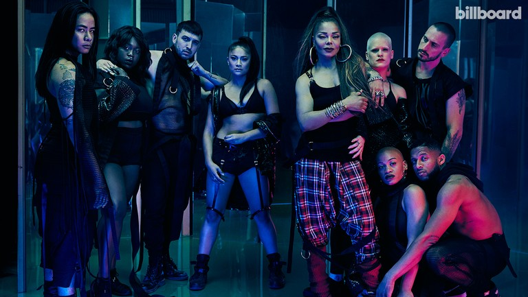 <p>Clockwise from left: Jackson&rsquo&#x3B;s dancers Whyley Yoshimura, Allison Buczkowski, Guero Charles, Alexandra Carson, Jackson, Mishay Petronelli, James Collins, Denzel Chisolm and Dominique Battiste photographed on May&nbsp&#x3B;9, 2018 at Milk Studios in Los Angeles. Styling by Robért Behar. Jackson wears a Lalita tank top, Dope Tavio pants, Haider Ackermann boots and Le Vian and Borgioni bangles. All dancers wear looks by Dope Tavio. Yoshimura wears Blake Hyland shorts. Carson wears a Blake Hyland vest and Ludovica Martire Made in Pain harness.</p>