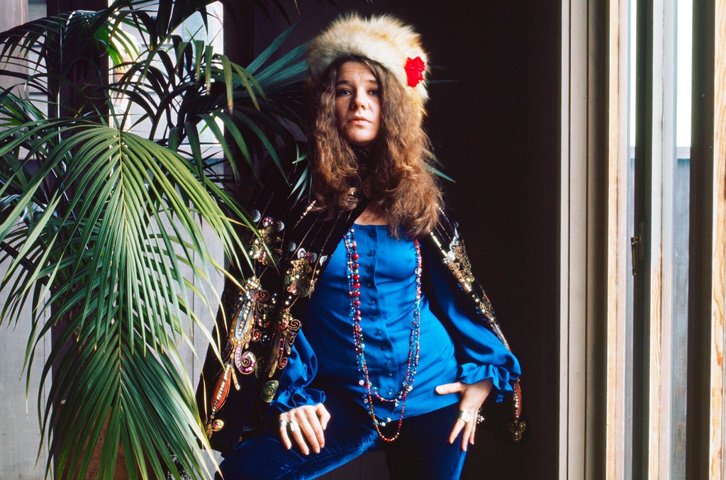 Janis Joplin at Spaulding Taylor's house in San Francisco in January, 1968.