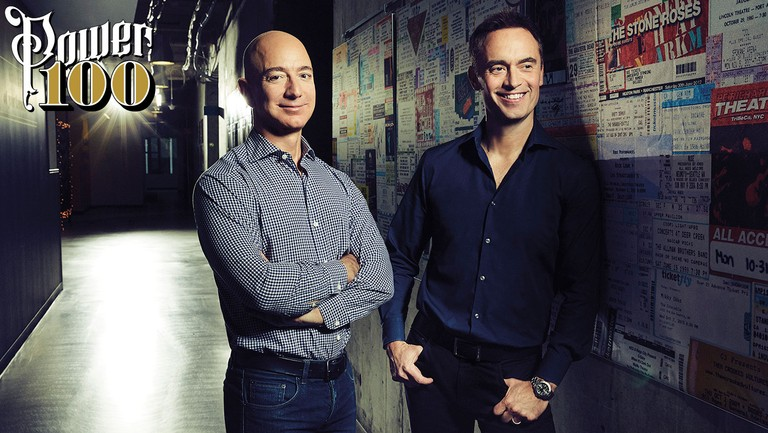 <p>Jeff Bezos (left) and Steve Boom photographed on Jan. 20 at Amazon in Seattle.</p>