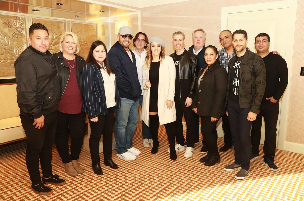From left to right: Colleen Theis (COO, The Orchard), Rosie Rivera (CEO, Jenni Rivera Enterprises), Juan Rivera (Vice President, Jenni Rivera Enterprises), Nir Seroussi (President, Sony Music US Latin)