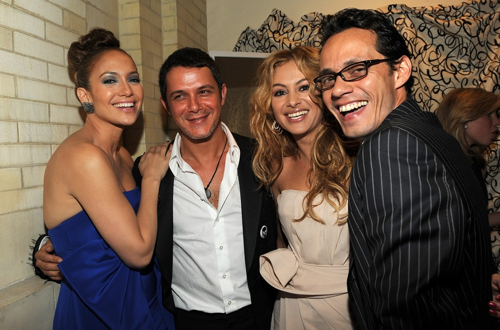 Paulina Rubio Shares Epic Throwback Photo With J Lo Marc Anthony Alejandro Sanz Plus More Latin Tbts Billboard