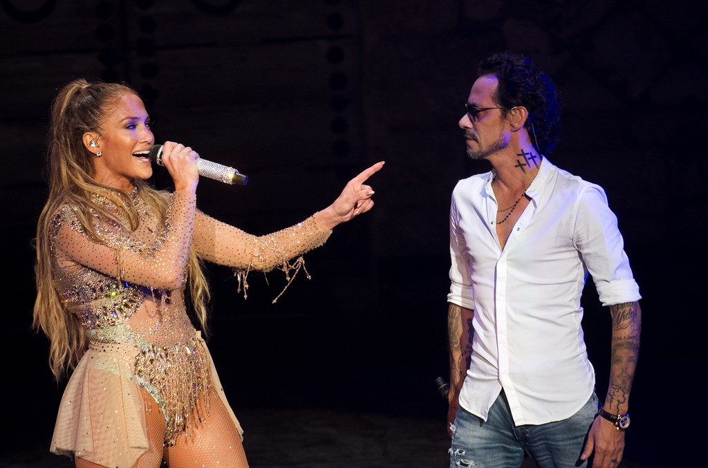 Jennifer Lopez and Marc Anthony perform at Casa de Campo Resort & Villas.
