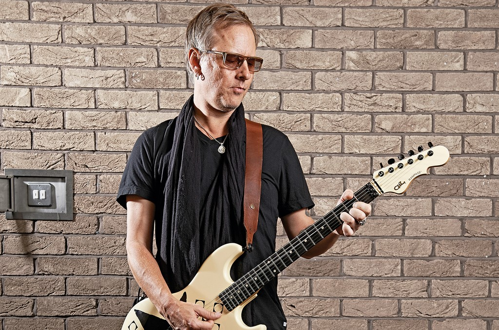 Jerry Cantrell photographed at the Newport Centre in Newport, Wales.