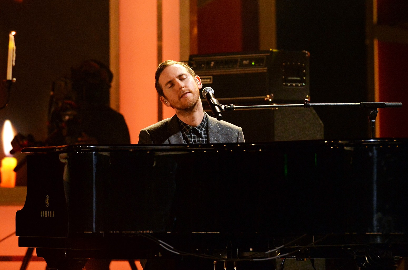 Jesse Carmichael of Maroon 5 performs in Los Angeles