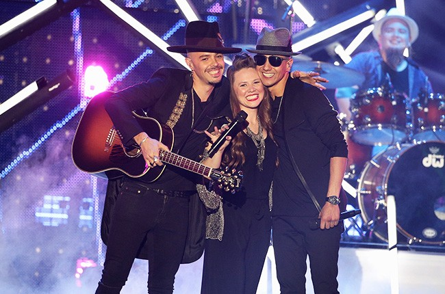 Jesse & Joy and Louis Coronel perform on stage during the 2016 Billboard Latin Music Awards
