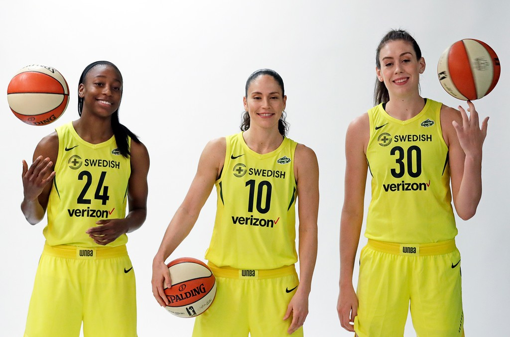 Jewell Loyd Sue Bir Breanna Stewart